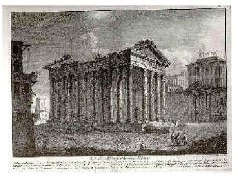 il rudere tempio augusto carta